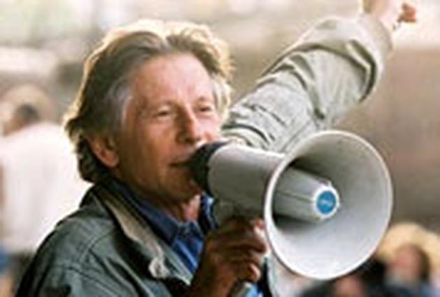 Roman Polanski on set