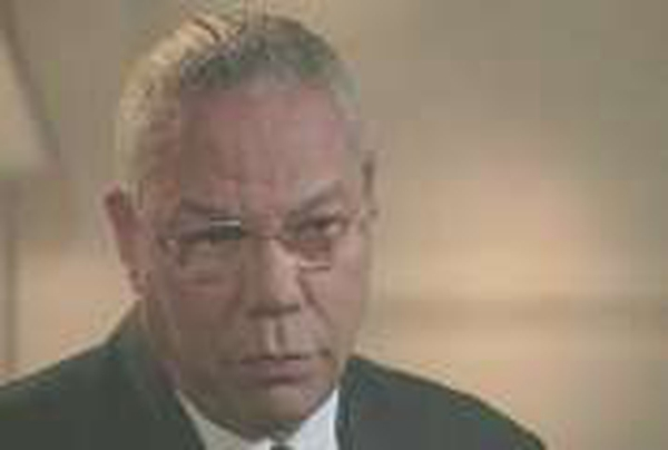 Colin Powell - US seeking to mend fences with the EU