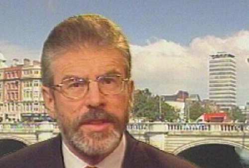 Gerry Adams - 'Party opposed to crime'