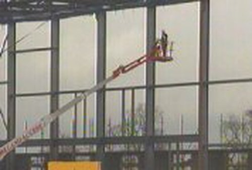 Citywest - Steel frame of convention centre
