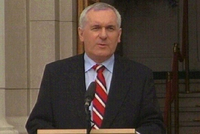 Bertie Ahern - May take Barron case to Europe