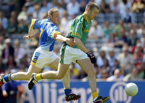 Niall Kelly of Meath and Adrian Foley of Wicklow