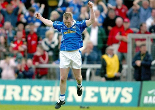 Jason Reilly celebrates scoring his late clinching  goal for Cavan