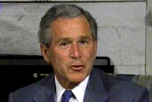 George W Bush - Camp David talks