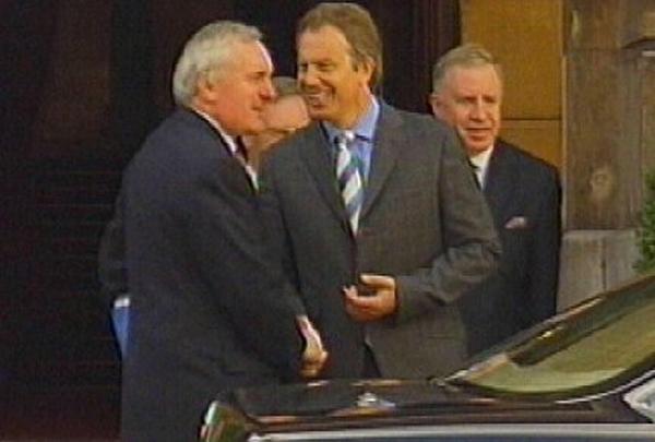 Bertie Ahern, Tony Blair - House of Commons talks