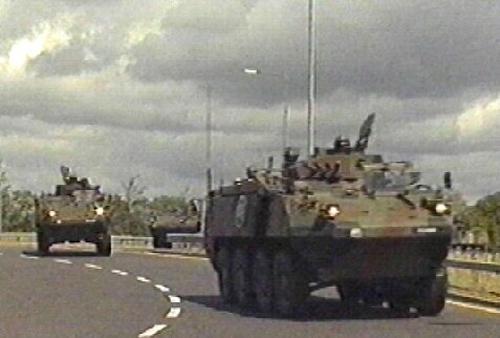 Bush visit - Troops prepare for arrival