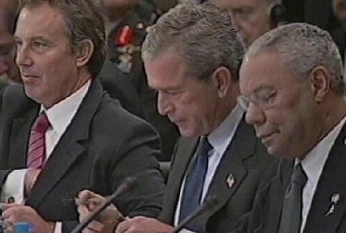 Daily Mirror source claims Tony Blair talked President Bush out of bombing the - Arabic TV network Al Jazeera