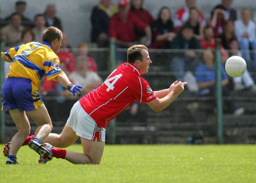 Cork's Colin Corkery and Padraig Gallagher of Clare