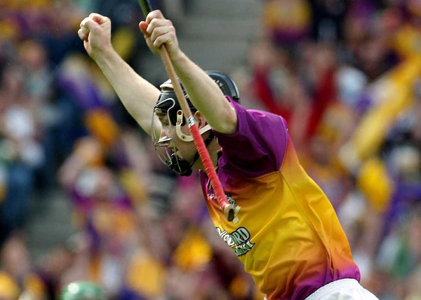 Wexford's Michael Jacob celebrates his first half goal