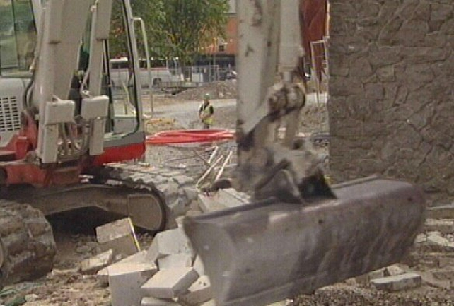 Eyre Square - Work halted on Monday
