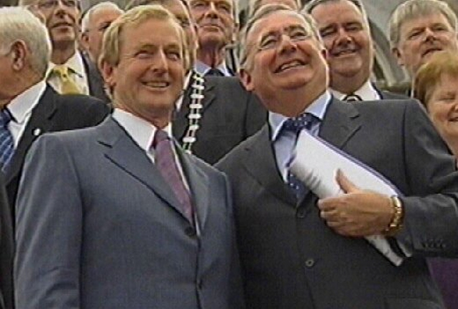 Enda Kenny & Pat Rabbitte - Parties unveil accord