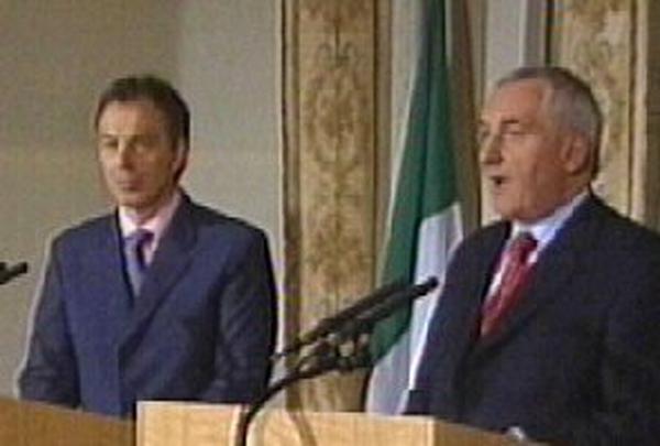 Tony Blair & Bertie Ahern - Details of NI formula