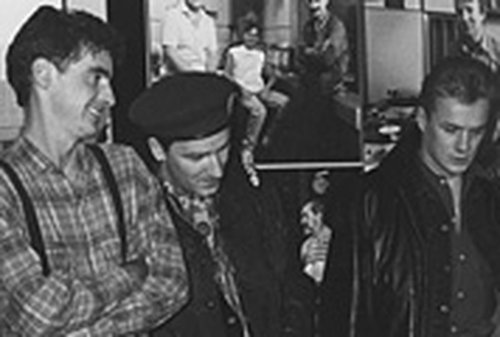 Dave Fanning with U2 in 1988