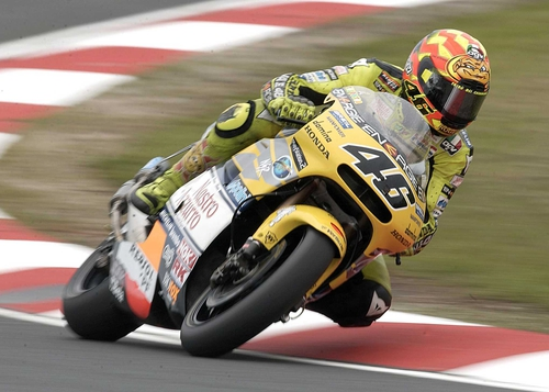 Valentino Rossi won his fourth MotoGP title of the year in Germany today