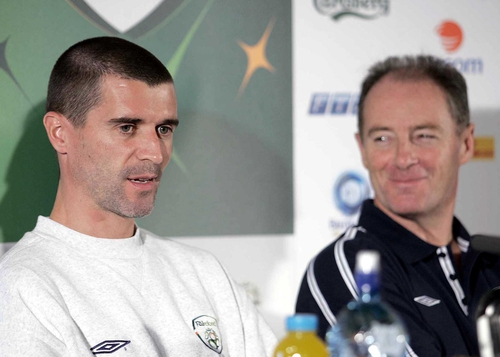 Roy Keane was welcomed back into the Irish squad by manager Brian Kerr in April 2003