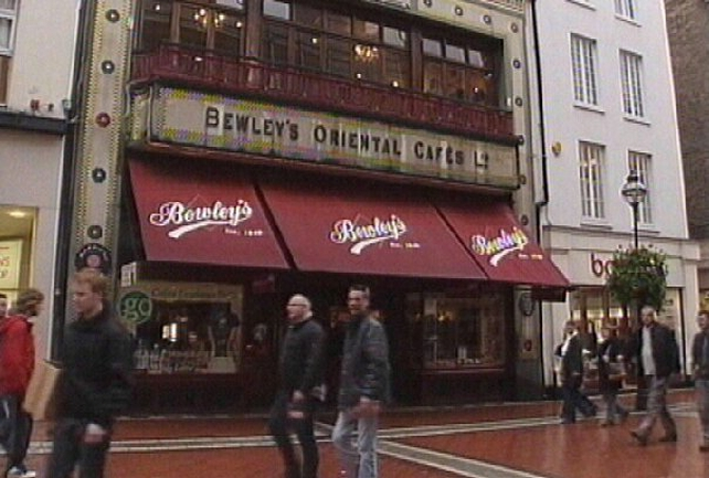 Bewley's - Dublin cafés have closed