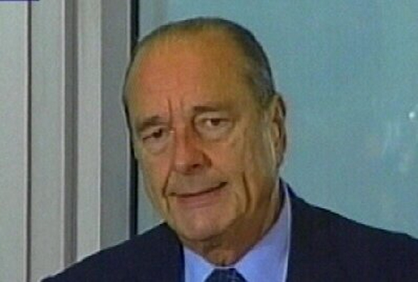 Jacques Chirac - Early departure from summit