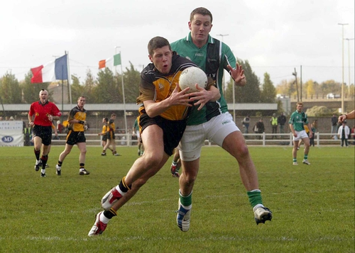 Sean Cavanagh, on the left, in action for Ulster