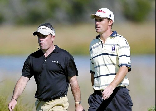 Paul McGinley and Padraig Harrington were both in action