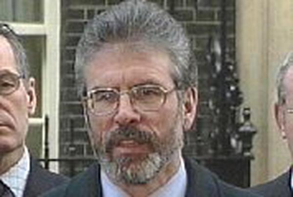 Gerry Adams - Downing Street talks