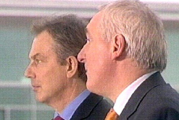 Tony Blair & Bertie Ahern - Downing Street meeting