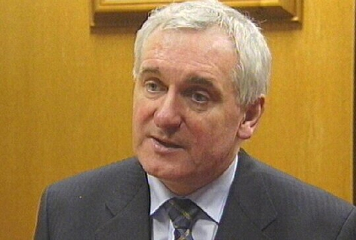 Bertie Ahern - Comments on bank robbery