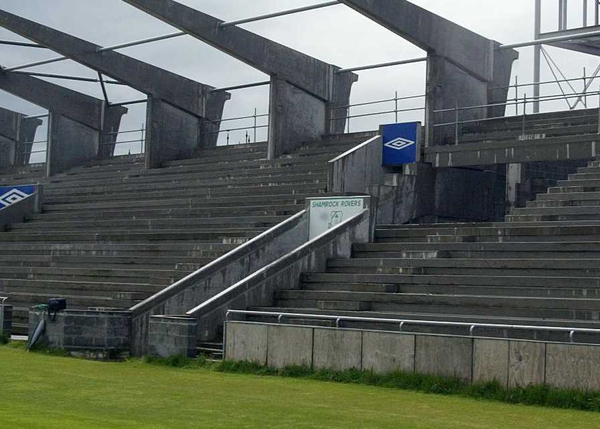 Rovers' unfinished stadium in Tallaght