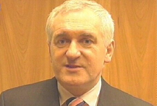 Bertie Ahern - Setback for peace process