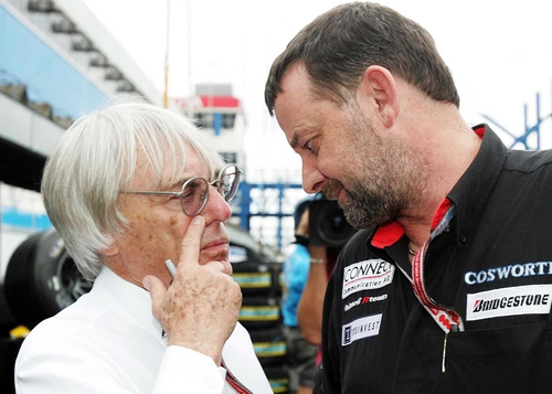 Bernie Ecclestone (left)  and Paul Stoddart