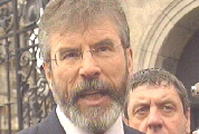 Gerry Adams - Anrgy challenge to Ahern