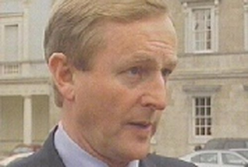 Enda Kenny - Vacant seat after Bruton departure