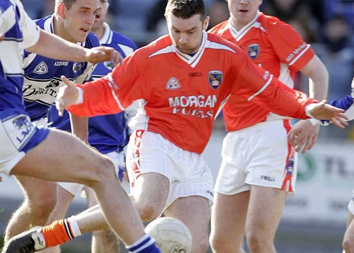 Oisin McConville hit five points to help Armagh defeat Monaghan in Clones today
