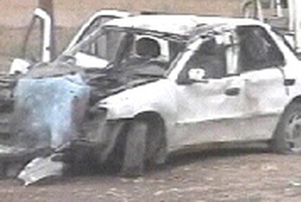 Aftermath of suicide bomb attack in Iraq