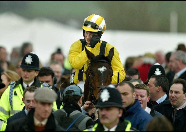 Nina Carberry samples the winning feeling at Cheltenham