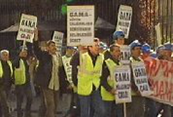 Gama workers - Protest over conditions