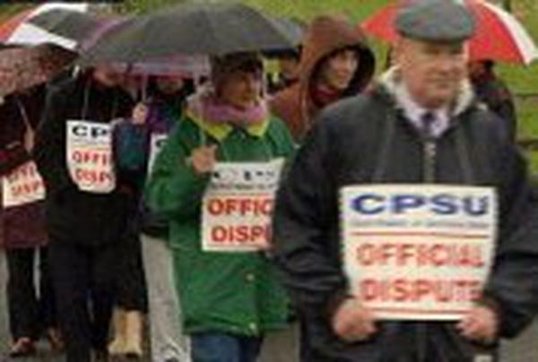 CPSU members - Strike over suspensions