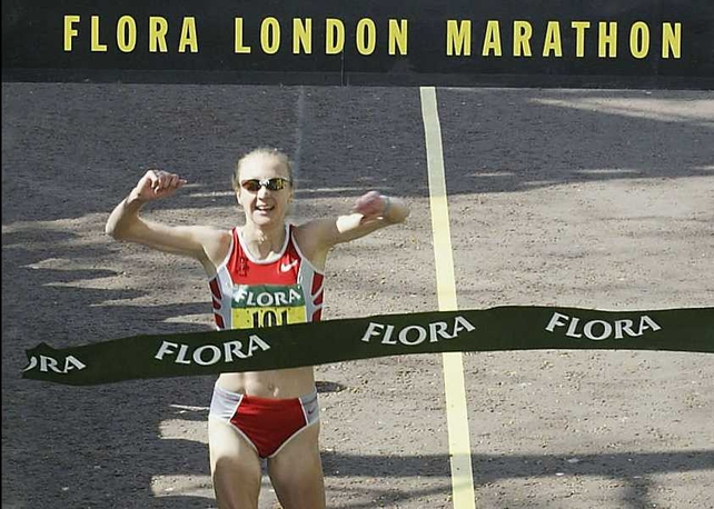 Paula Radcliffe won the last of her three London Marathons in 2005