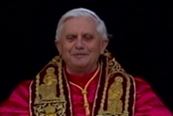Pope Benedict XVI - Makes first appearance on Vatican balcony