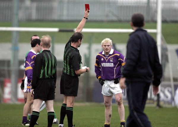 Mark Vaughan sees red while playing for Kilmacud Crokes in last year's Leinster club championship