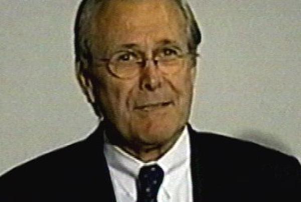 Donald Rumsfeld - Makes surprise visit to Baghdad