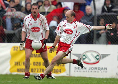 Peter Canavan had an eventful afternoon for Tyrone
