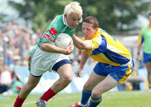 Conor Mortimer, who was the game's top scorer with 1-04, skips past Roscommon defender Sean McDermott