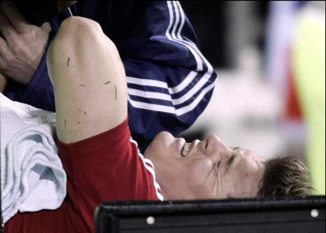 Tana Umaga and Keven Mealamu will not be punished for a double-spear tackle on Brian O'Driscoll (above)