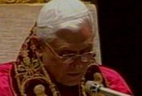 Pope Benedict XVI - 'Sorrow' over clerical abuse