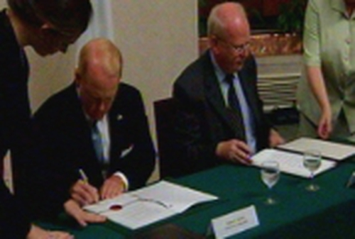 James C Kenny & Michael McDowell - Agreement signed
