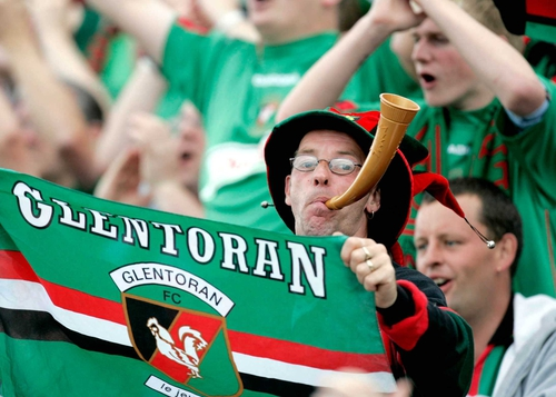 Glentoran fans had little to celebrate as their side fell to a 10-0 aggregate defeat