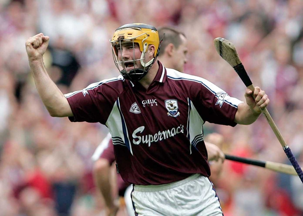 Ger Farragher hit the net for Galway against Laois today