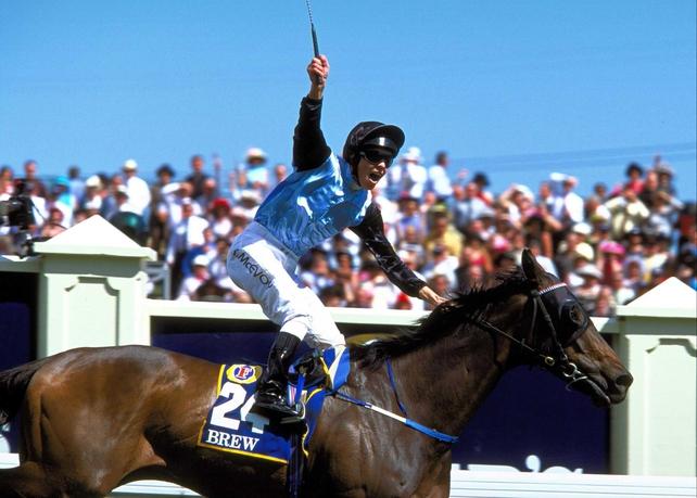 Kerrin McEvoy ran a fine trial for the Melbourne Cup aboard Purple Moon