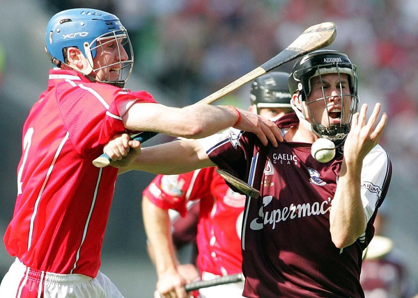 Cork's Pat Mulcahy and Galway's Niall Healy clash in today's final