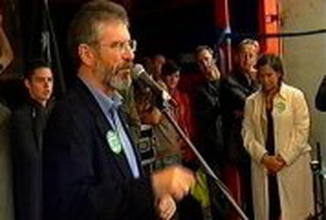 Gerry Adams - Addresses rally
